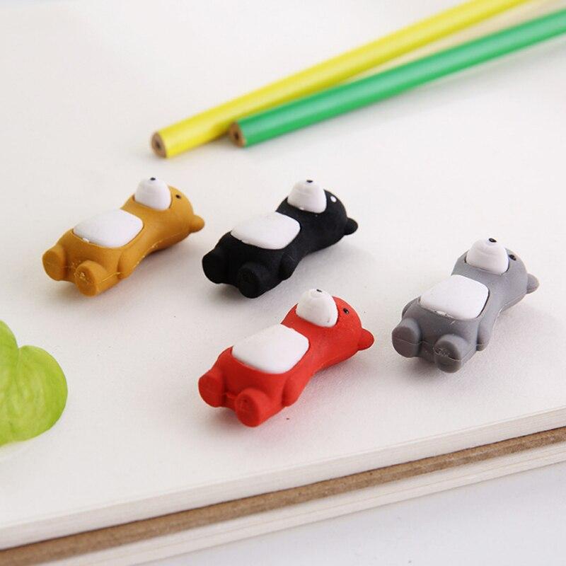 Купить с кэшбэком 1X lovely Standing bear eraser rubber eraser creative stationery school supplies papelaria child's gift students supplie