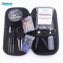 Glotech Alien wire coil jig Japanese organic cotton pliers Ceramic tweezer DIY tools kits for E cigarette RBA RDA RTA atomizer electronic cigarette accessories kit for rda rta atomizer ceramic tweezers coil jig plier screw heating wire resistance tester