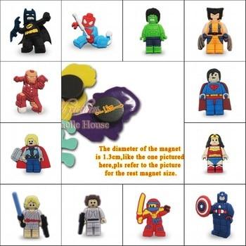 Online Shop 1pcs Hot Cartoon Super Heroes 1.3CM Fridge Magnets ...