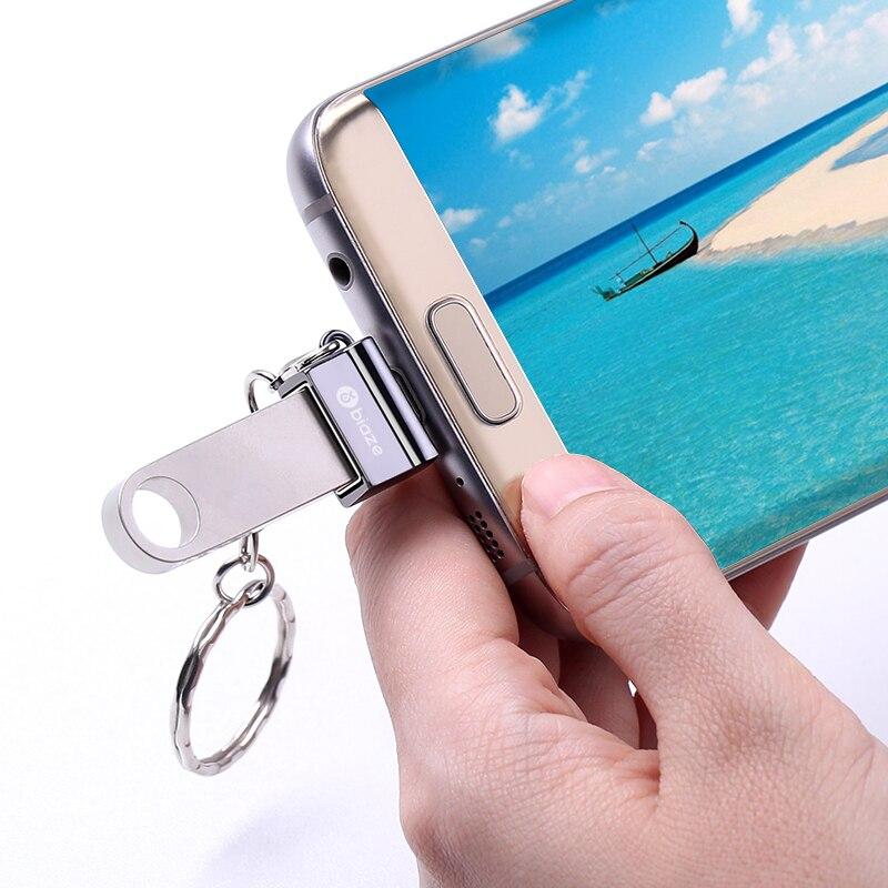 Biaze OTG адаптер Micro USB к USB кабель конвертер адаптер Micro USB к USB 2,0 для Samsung Xiaomi Android телефон для флэш-накопителя