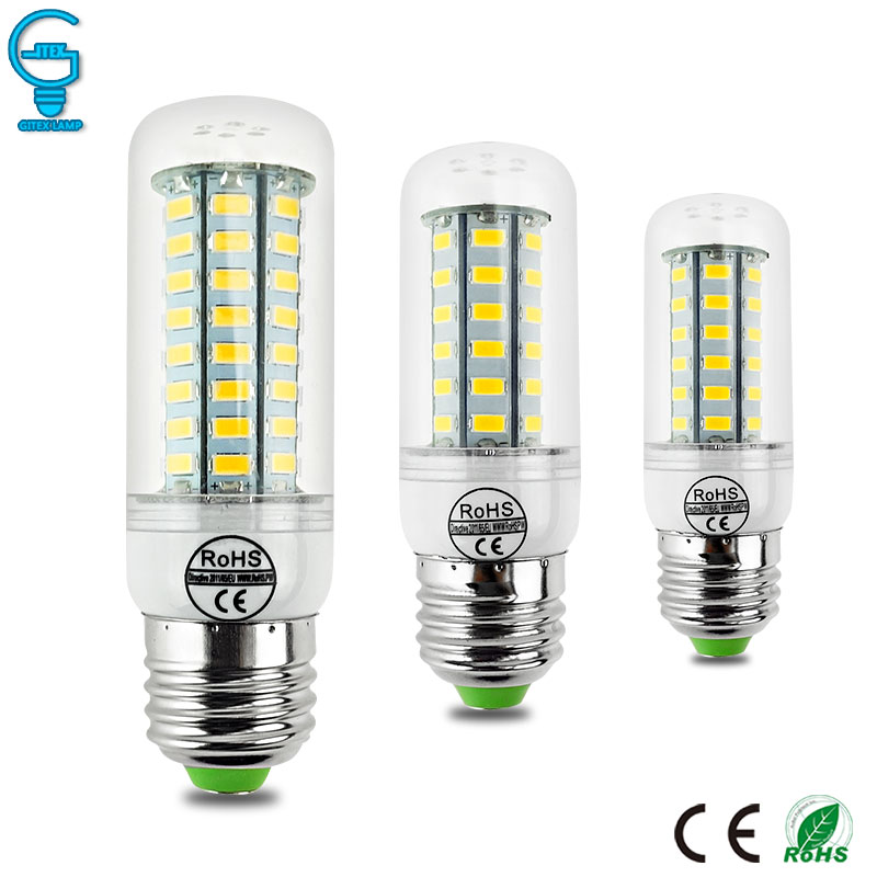 LED Lamp Corn Bulb E27 220V 110V LED Corn Light 5730 Lampada Ampoule Bombillas 24 36 48 56 69 72LEDs Warm Cold White high luminous lampada 4300 lm 50w e40 led bulb light 165 leds 5730 smd corn lamp ac110 220v warm white cold white free shipping