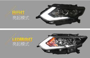 Image 5 - LED,2017~2019,Car Styling,X Trail Headlight,Micra,Titan,versa,stanza,sentra,Tsuru,stagea,Rogue;X Trail head lamp,Rogue,X Trail