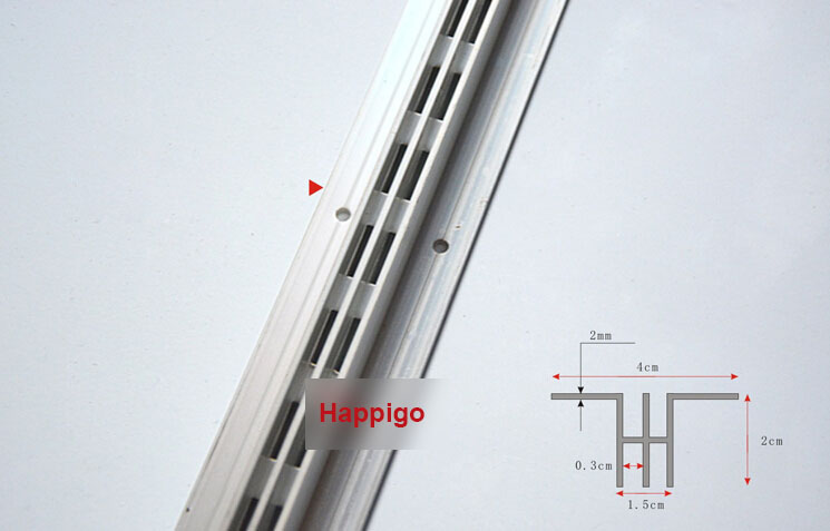 2.4 Meters AA Double Rails Single Row Column Aluminium Bar DIY Shelf Track Furniture Accessories