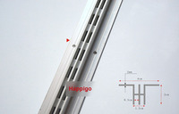 2 4 Meters AA Double Rails Single Row Column Aluminium Bar DIY Shelf Track