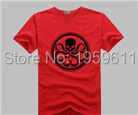 100% Cotton Captain America hydra T-Shirt t shirt SHIRT Movie Men Cosplay T Shirts For Man