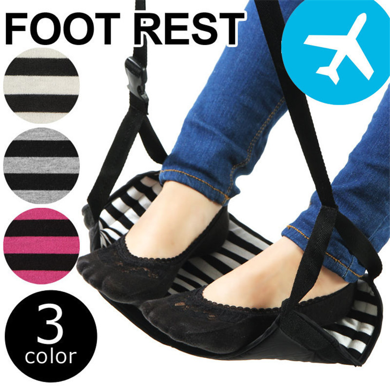 Portable Travel Feet Hammock Airplane Flight Train Home Leisure Dest Adjustable Stand Foot Rest Feet Travelling Accessories hammock accessory portable hammock stand black background