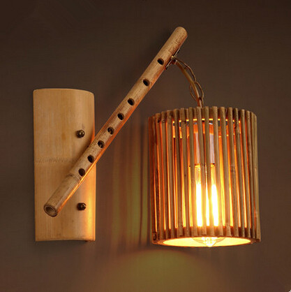 southeast asia creative bamboo wall lamp modern personality edison bedside light fixtures for bar cafe living bamboo lighting fixtures