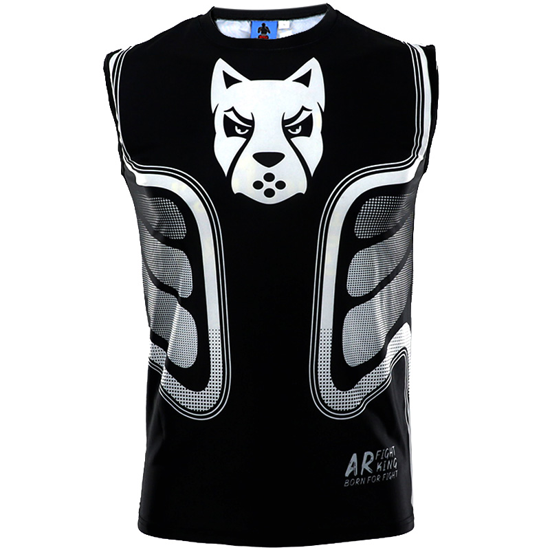 MMA Sleeveless Shirts  Muay Thai Survival Boxing Jerseys Boxing Sweatshirt Mma Men King Boxing Shorts T Shirt Mma Sauna Suit