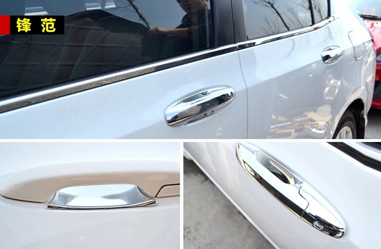 Chrome Door Handle Cup Bowl Cover Trim For Honda City 2009 2010 2011 ...