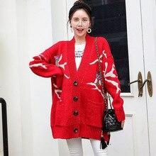 Для беременных Рождественские свитера кардиганы пальто Верхняя одежда вязаный свитер для беременных Одежда Осень Беременность Топы H288
