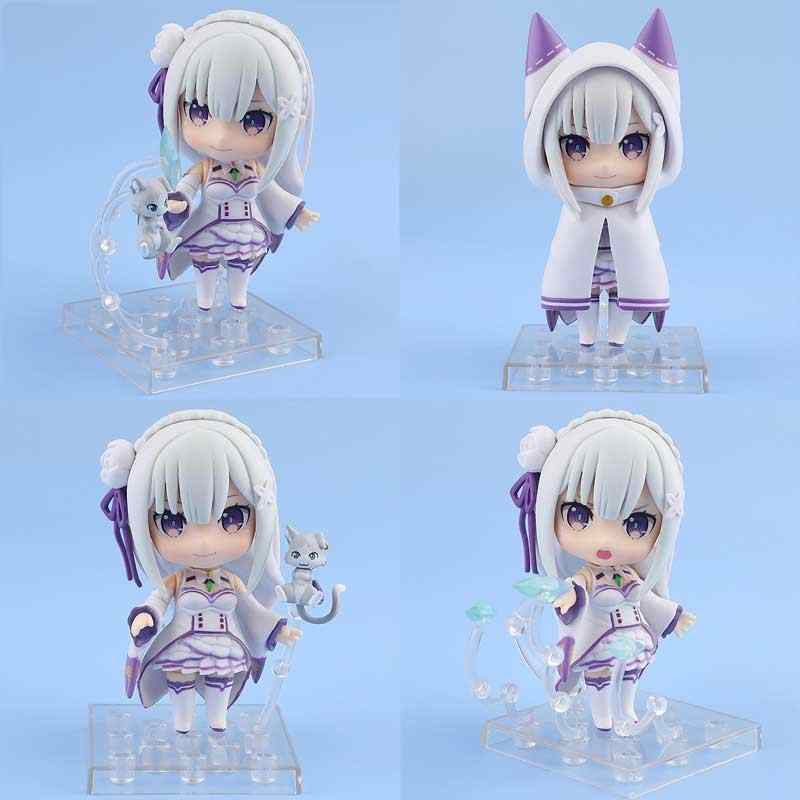 2019 nova 10 centímetros bonito do Anime Re: a vida em um mundo diferente de zero Nendoroid 751 # Emilia PVC action figure toy model collection