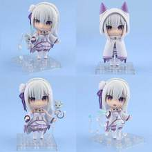 2019 nova 10 centímetros bonito do Anime Re: a vida em um mundo diferente de zero Nendoroid 751 # Emilia PVC action figure toy model collection(China)