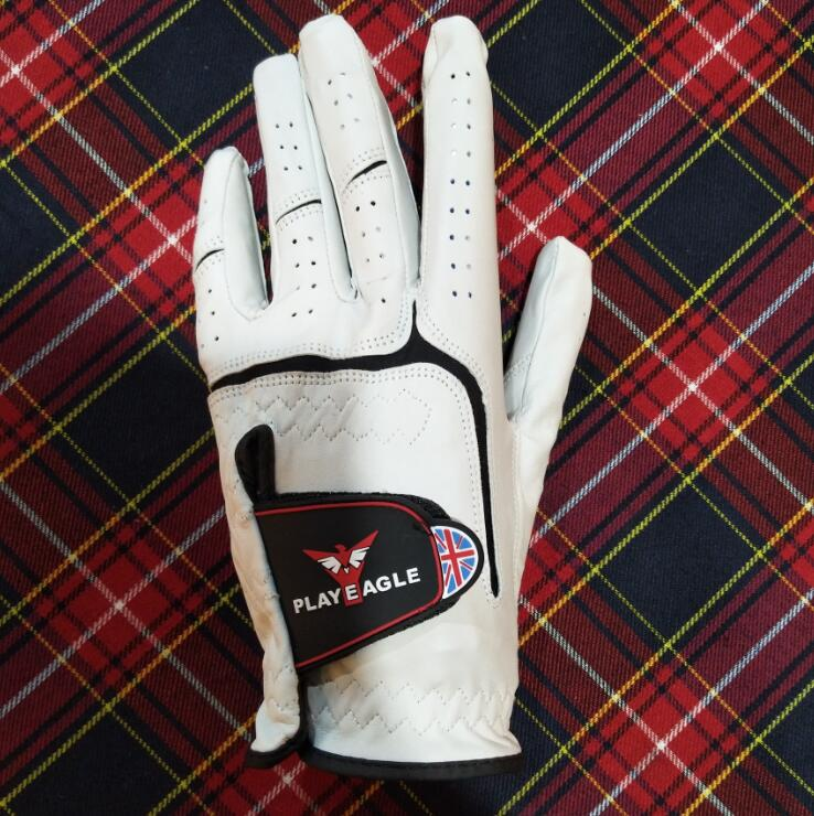 2018 PLAYEAGLE Brand New Genuine Sheepsink Golf Glove Breathable Left Hand Leather Golf Sports Gloves