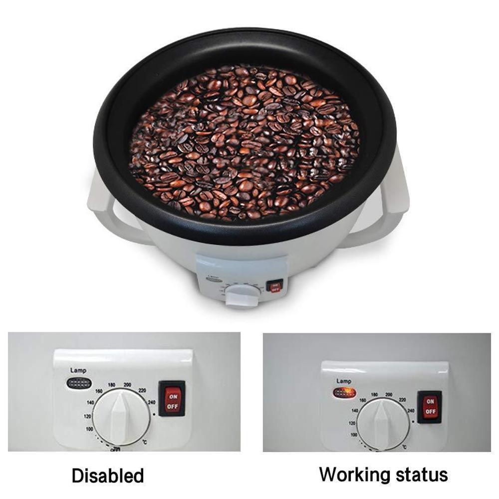 Café électrique grains maison café torréfacteur Machine torréfaction 220 V revêtement antiadhésif outils de cuisson ménage Grain séchage 750g - 2