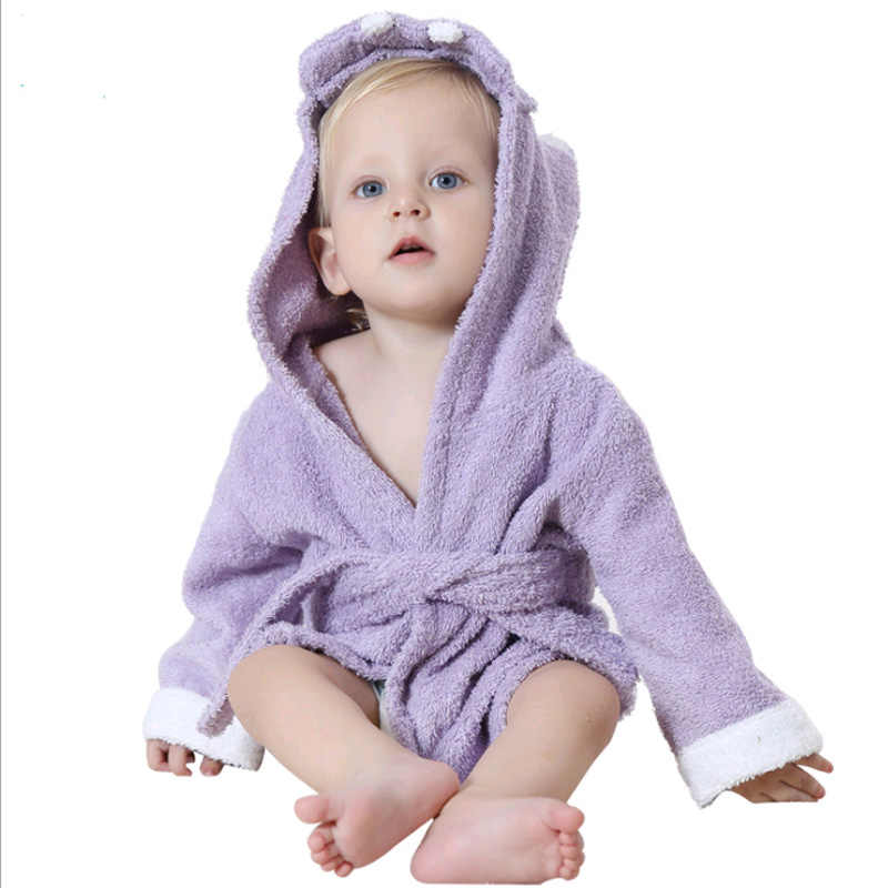 3903812d54 ... 2-6 year Baby Robe Cartoon Hoodies Girl Boys Sleepwear Good Quality  Bath Towels Kids ...