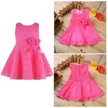 Rorychen Brand Baby Dresses Girls Princess Dress Flower Todd