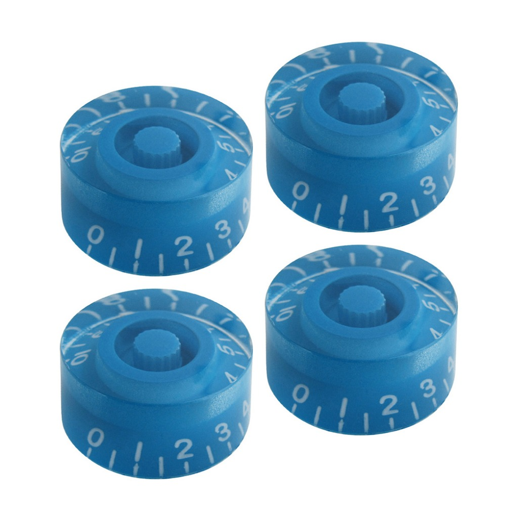 buy new 4pcs electric guitar knobs blue with white numbers for lp guitar parts. Black Bedroom Furniture Sets. Home Design Ideas