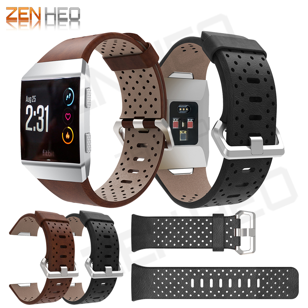 Leather strap band for fitbit ionic watch wrist Bracelet Replacement wristband Breathable smartwatch Watchband for fitbit ionic fitbit watch
