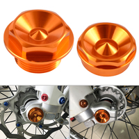 Front Right & Left Wheel Spindle Collar Alxe Nut For KTM KTM 125 200 250 300 350 450 530 SX SXF EXC EXCF XC XCW XCF 2013 2016