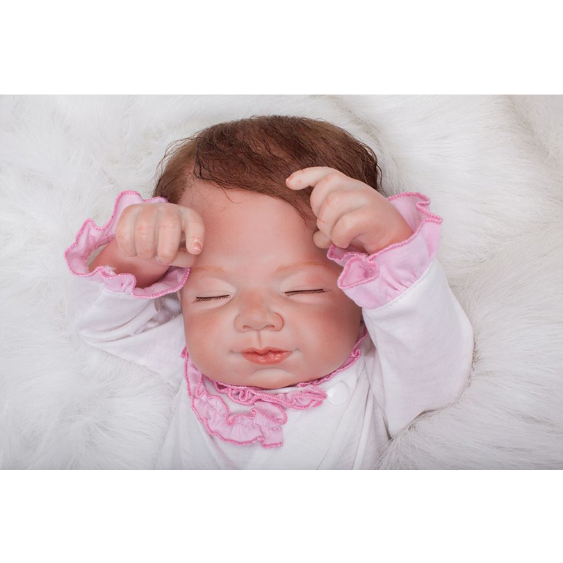 50cm Silicone reborn sleeping baby girl dolls toy lifelike 20inch vinyl newborn princess babies doll bebe reborn girls birthday 50cm soft body silicone reborn baby doll toy lifelike baby reborn sleeping newborn boy doll kids birthday gift girl brinquedos