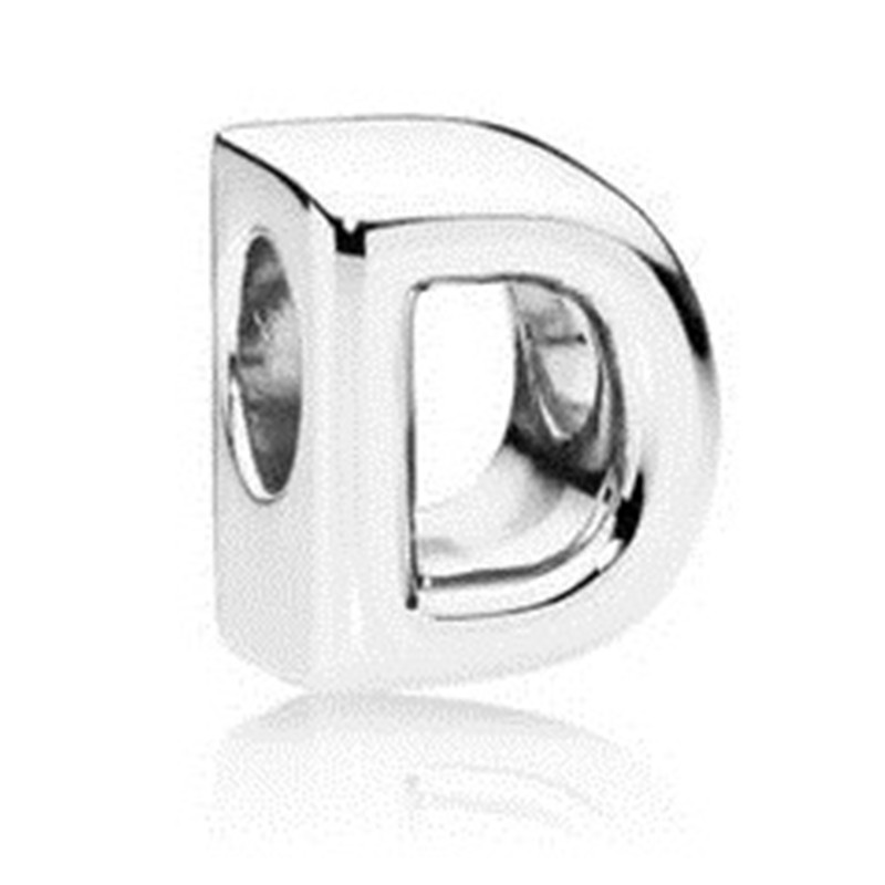 A Z Alphabet Bead 925 Sterling Silver Name Letters Charm Fit Original Pandora Bracelet Bangle Necklace Women DIY Jewelry Gift in Beads from Jewelry Accessories