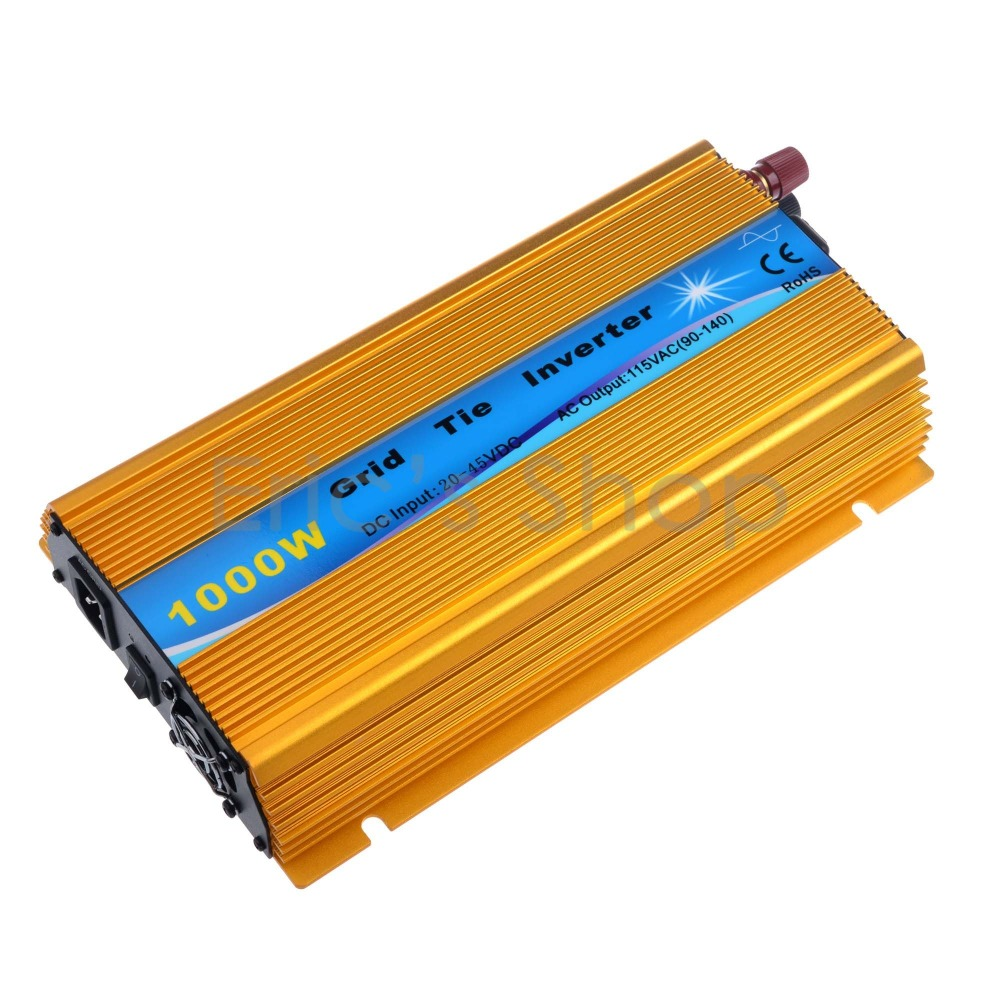 1000W Grid Tie Inverter DC20V-45V to AC110V Pure Sine Wave Power Inverter Fit For 24V/60cells 36V/72cells With MPPT Function 22 50v dc to ac110v or 220v waterproof 1200w grid tie mppt micro inverter with wireless communication function for 36v pv system