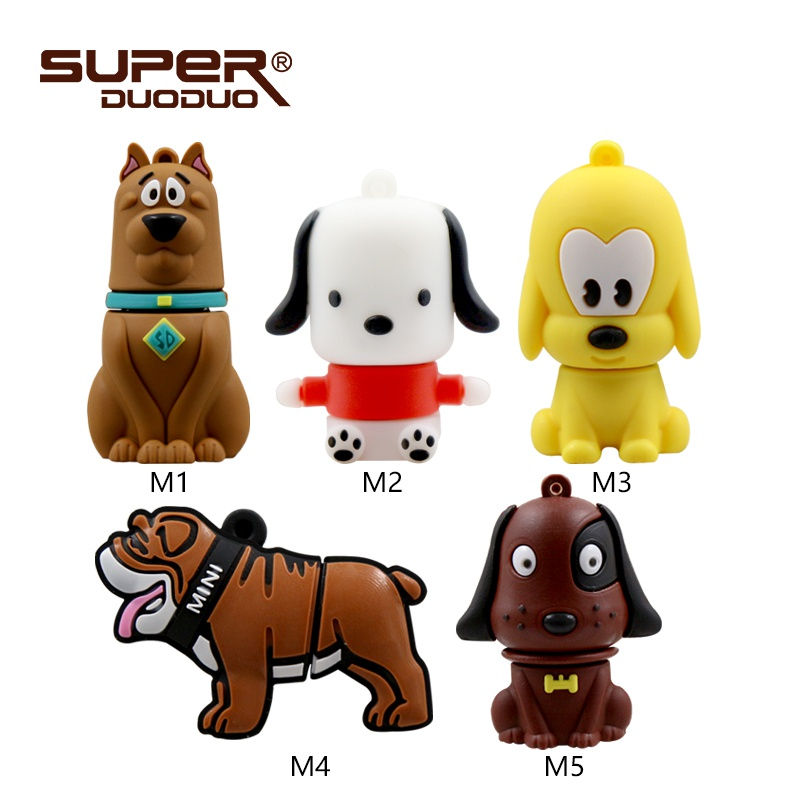 lovely dog usb flash drive pendrive 4gb 16gb 32gb 64GB animal pen drive 16gb memory stick cartoon animal U disk USB 2.0(China)