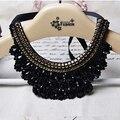 Nueva llegada hecha a mano collar falso collar de perlas de cristal negro encanto de las mujeres choker collar accesorios de la joyería de moda