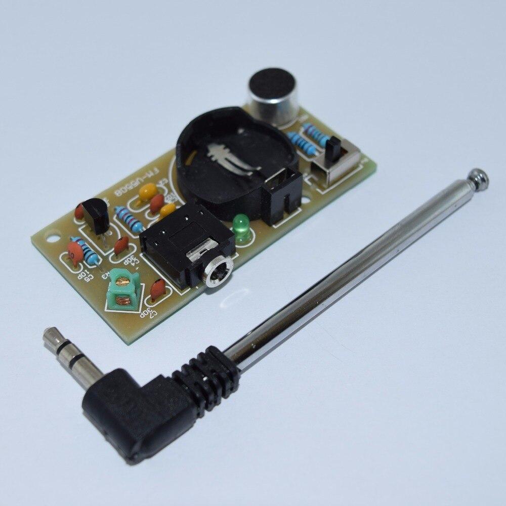 Newest 2016 Mini FM wireless microphone DIY kit Electronic