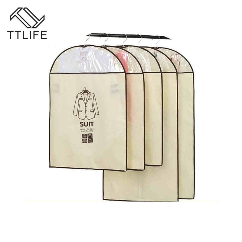 TTLIFE 5pcs/set Black Coat Clothes Garment Suit Cover Bags Clothes ...