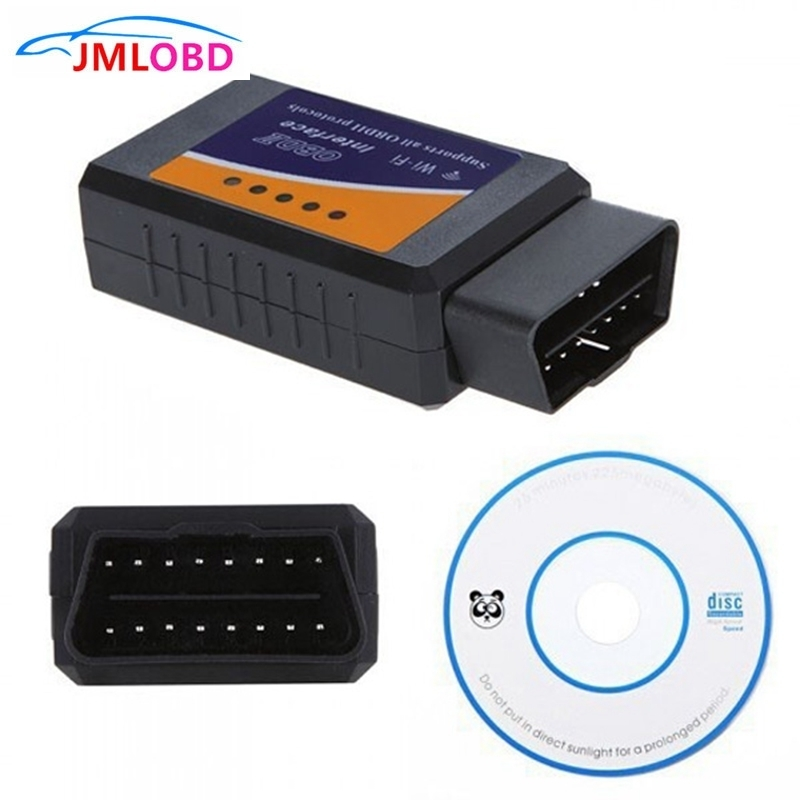 ELM327 WIFI OBD2 Code Reader Auto Scanner Diagnostic Tool work on Smartphone Android IOS APP Car OBD Computer Scanner image