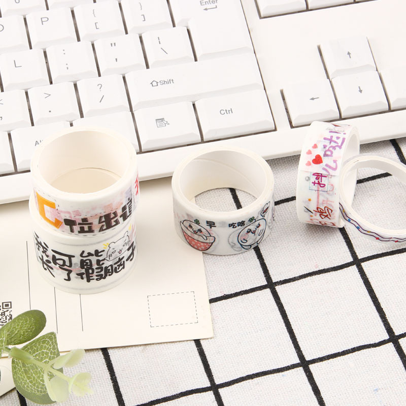 5 pcs set washi tape foil thin sakura pink and white travel tape kawaii stickers scrapbooking masking tape fita adesiva stickers in Office Adhesive Tape from Office School Supplies