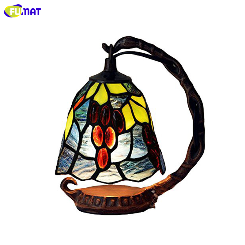 FUMAT Tiffany Table Lamps American Creative Bedroom Bedside Lights And Feeding Nightlight|LED Table Lamps| |  - title=
