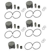 5 Sets 38mm Piston 10mm Pin Ring Bearing Kit Fit STIHL 018 MS180 Chainsaw