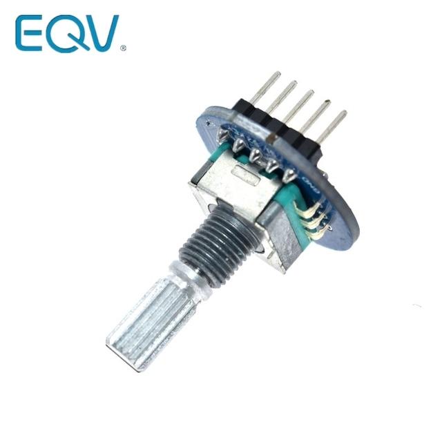 Rotary Encoder Module for Arduino Brick Sensor Development Round Audio Rotating Potentiometer Knob Cap EC11 3