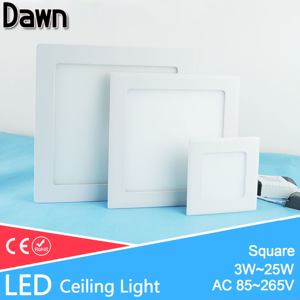 Ultra Thin Square LED Panel Light 3w 4w 6w 9w 12w 15w 18w 25w AC 220V Ceiling Recessed Ceiling led light lamp Lighting Spot Tube square led panel light smd 2835 3w 6w 9w 12w 15w 18w 20w ac 85 265v led ceiling recessed lamp led downlight driver for indoor