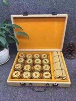 High end chess Golden Nanmu Chinese chess mahogany handicraft Golden Nanmu solid wood chess free shipping
