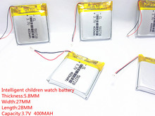 5pcs 3.7V 400mAh Rechargeable li-Polymer Li-ion Battery For Q50 G700S K92 G36 Y3 Children's smart watches mp3 582728 602828