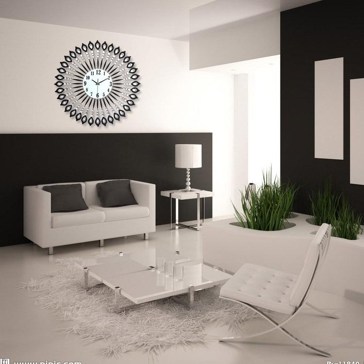 Geekcook Kreative Wanduhr Modernes Design Wohnzimmerschlafzimmer