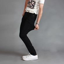 Новый 2017 моды для мужчин бутик эластичные тонкие тонкие ноги досуг джинсы/Мужской удобные повседневные джинсы/Мужчины брюки