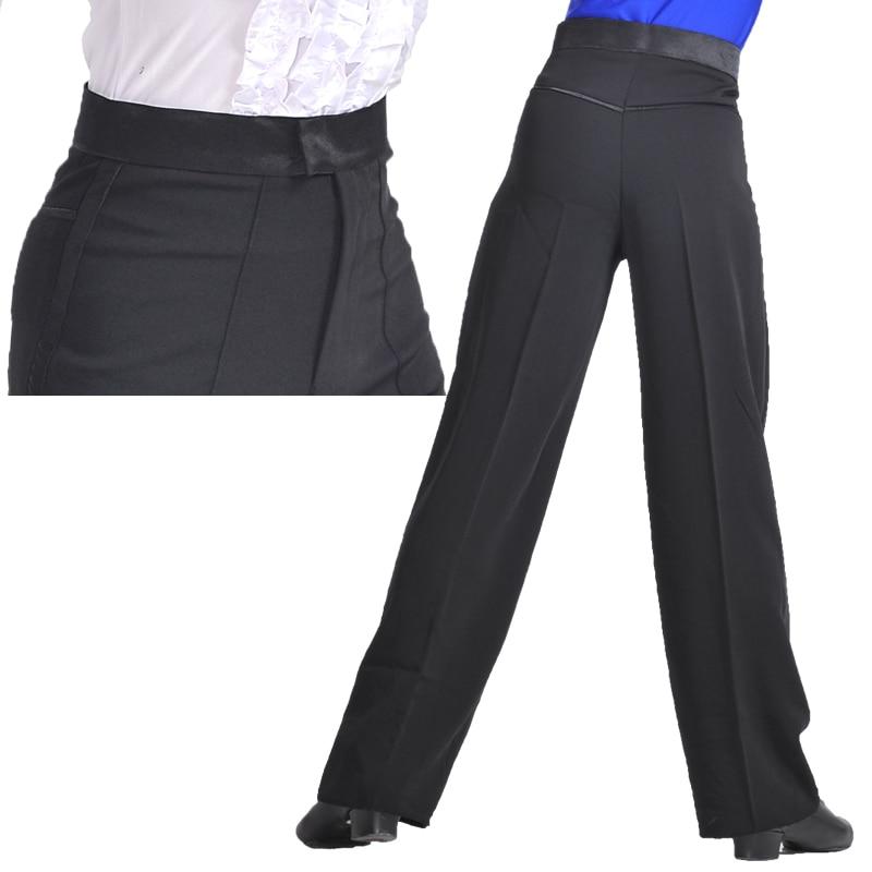 Image 2 - Professional Men Black Latin Dance Pants Boys Adult Satin Ballroom Dance Pants Salsa Tango Rumba Samba Cha Cha Latin Trouserspants anklespants convertiblepants latex -
