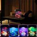 Sale Multicolor LED Light Jellyfish Tank Sea World Swimming Mood Lamp Night Light Aquarium Nightlight Festival Home Decor Light