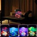 Venda Multicolor LEVOU Luz Tanque Sea World Swimming Jellyfish Mood Lamp Night Light Nightlight Festival Home Decor Luz Do Aquário