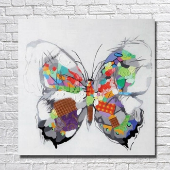 Beautiful Butterfly Painting Home Decor Living Room  Decor Fine Art  Pictures With Framed Painting Ready to Hang Artwork Picture