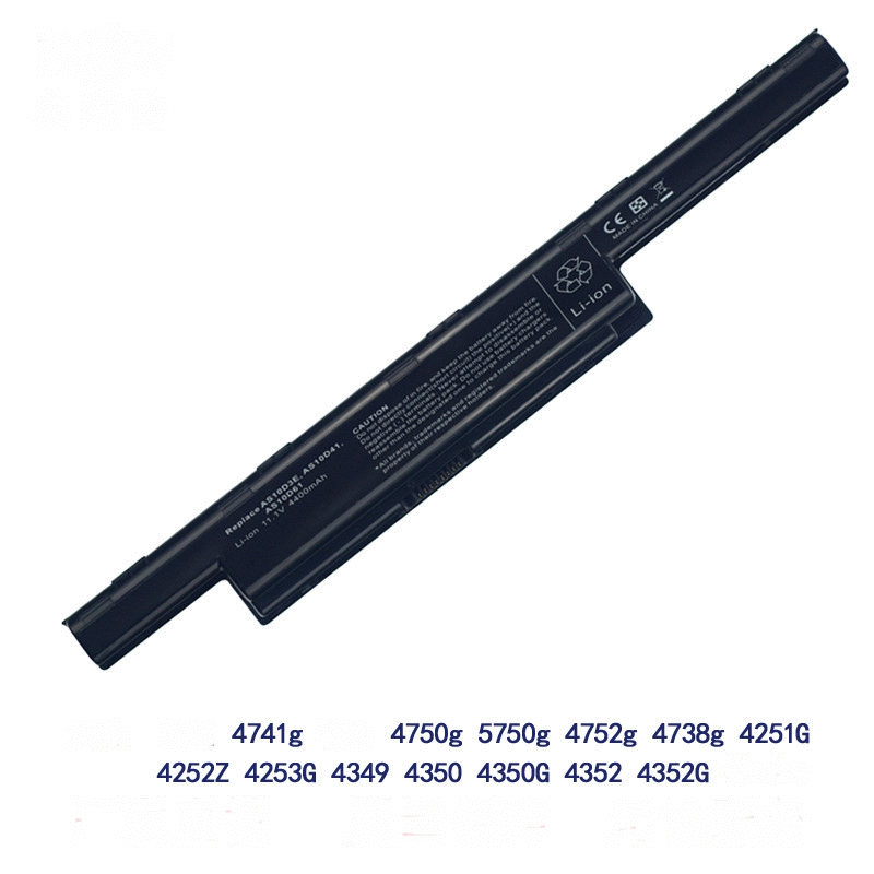 GTF Aplicável para ACER 4738zg 4750g 5741G Para Acer 4741g AS10D31 bateria do notebook núcleo