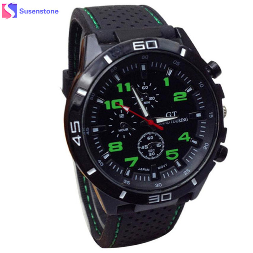 New Brand Gold Mens Watches Top Brand Luxury Silicone Wristwatch Mens Gift Quartz Watch Discount Relogio Masculino #4M20#F