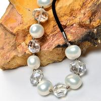Japan and South Korea high end jewelry natural shellfish necklace mother of pearl shell is round short chain micro mosaic bride