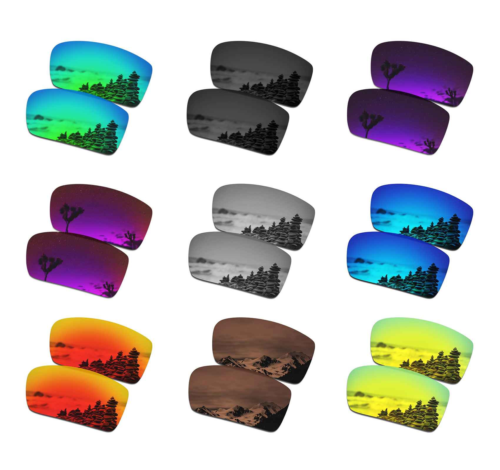 SmartVLT Polarized Replacement Lenses For Oakley Crankshaft Sunglasses - Multiple Options
