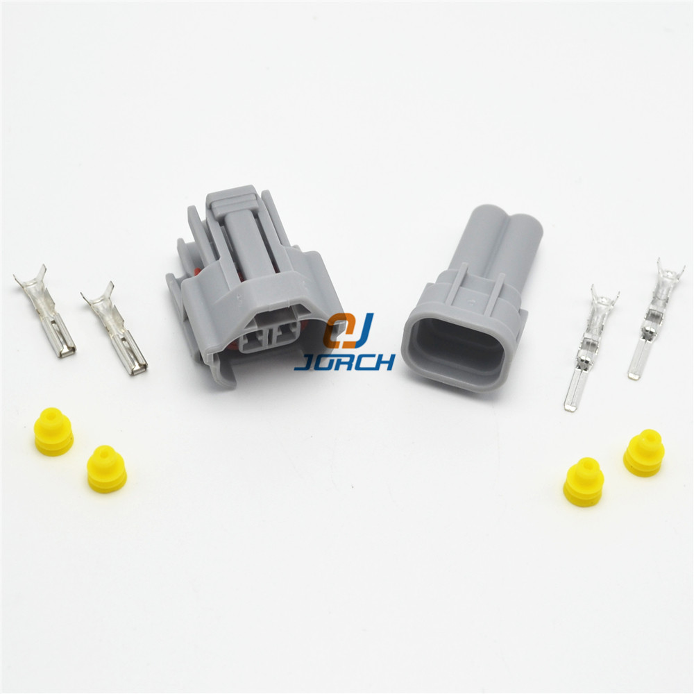 Male Fuel Injection Connectors NIPPON DENSO DUAL SLOT car Injector tuning