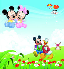 Mickey Mouse theme Vinyl Custom Photography Backdrops Prop  Studio Background NMLS-1015